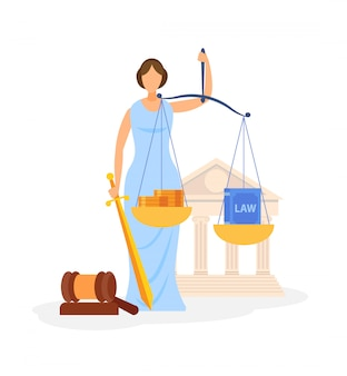 Wereldberoemde wet symbool kleur vectorillustratie