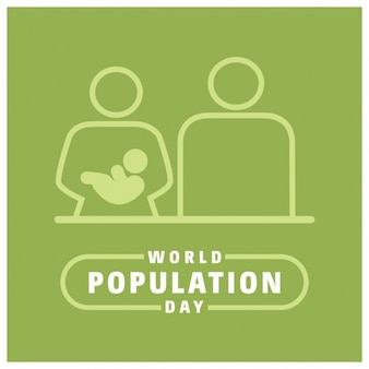 Wereldbevolking dag grafisch ontwerp