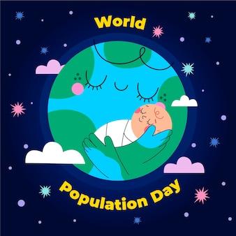 Wereldbevolking dag viering illustratie