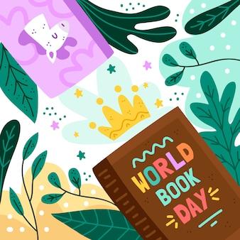 Wereldboek dag tekening thema