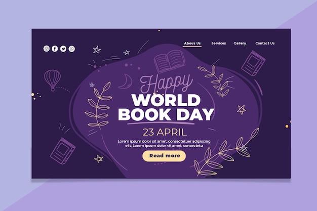 Wereldboekdag bestemmingspagina sjabloon