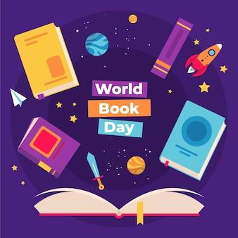 Wereldboekdag illustratie