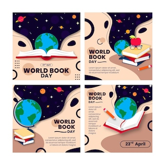 Wereldboekdag instagram posts-collectie