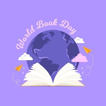 Wereldboekdag vlakke stijl