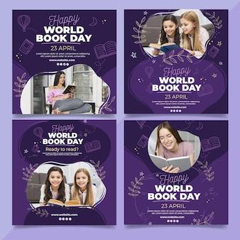 Wereldboekendag instagram posts-collectie