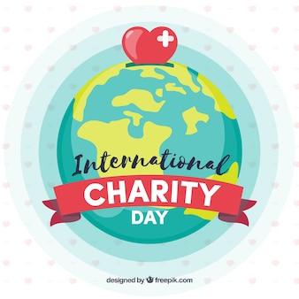 Wereldbol, hart en liefdadigheidsdag