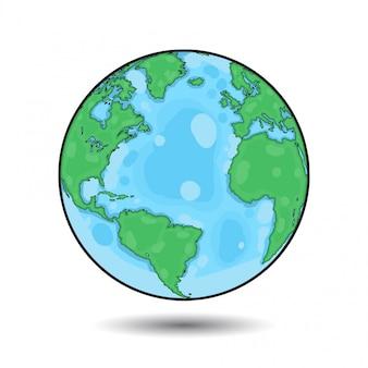 Wereldbol kleurrijke illustratie