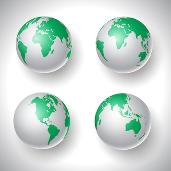 Wereldbollen collectie