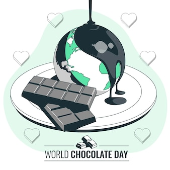 Wereldchocolade dag concept illustratie