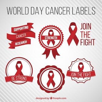 Werelddag kanker etiketten