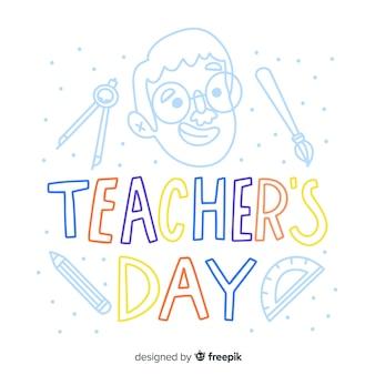Werelddag leraren belettering