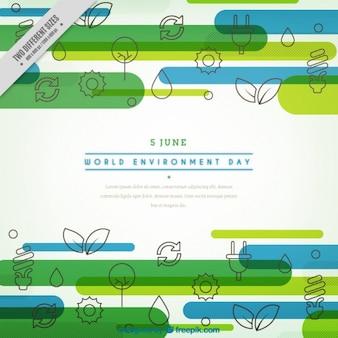 Werelddag milieu met pictogrammen achtergrond