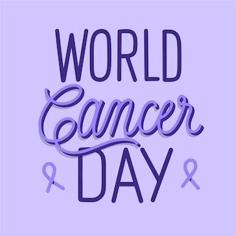 Werelddag voor kanker belettering