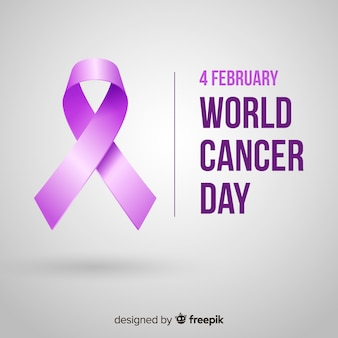 Werelddag voor kanker in realistisch ontwerp