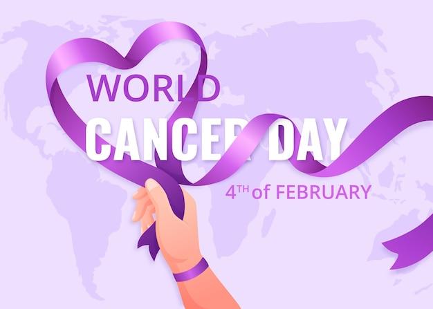 Werelddag voor kanker met kleurovergang