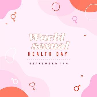 Werelddag voor seksuele gezondheid met geslachtssymbolen