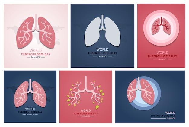 Werelddag voor tuberculose. evenement voor ziektebewustzijn.