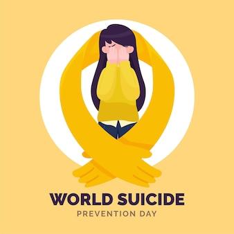 Werelddag voor zelfmoordpreventie met vrouw