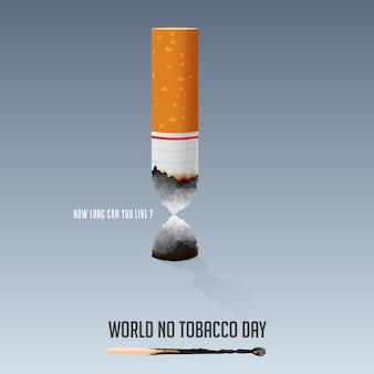 Werelddag zonder tabak, 31 mei poster voor niet-rokers.