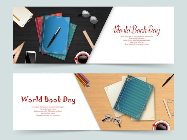 Werelddagboek banners sjabloon