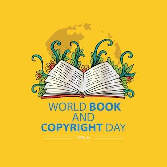 Werelddagboek en auteursrechtdagconcept. 23 april