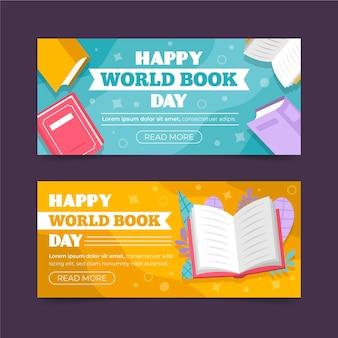 Werelddagboek horizontale banners collectie