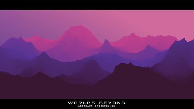 Werelden voorbij abstract landschap