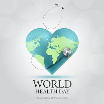 Wereldgezondheidsdag achtergrond in realistische stijl