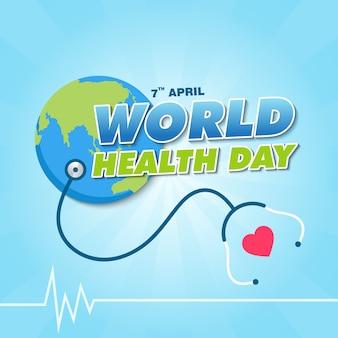 Wereldgezondheidsdag banner ontwerpsjabloon