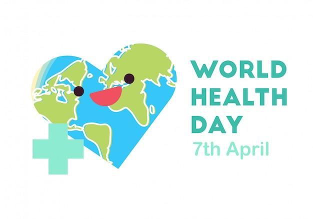Wereldgezondheidsdag conceptuele illustratie vector