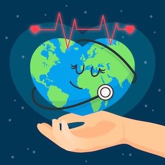 Wereldgezondheidsdag evenementontwerp