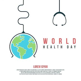 Wereldgezondheidsdag illustratie en achtergrond om wereldgezondheidsdag te vieren
