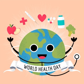 Wereldgezondheidsdag medische behandeling en stethoscoop