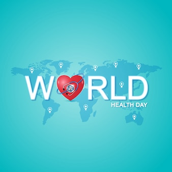 Wereldgezondheidsdagconcept voor gezondheidszorg en medisch