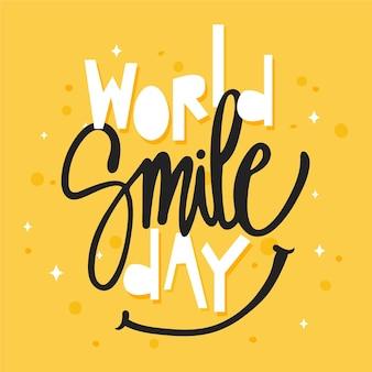 Wereldglimlachdag - belettering