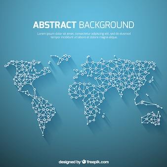 Wereldkaart achtergrond in abstracte stijl