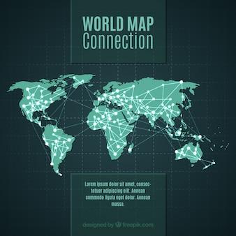 Wereldkaart conection