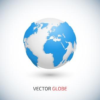 Wereldkaart en globe detail illustratie.