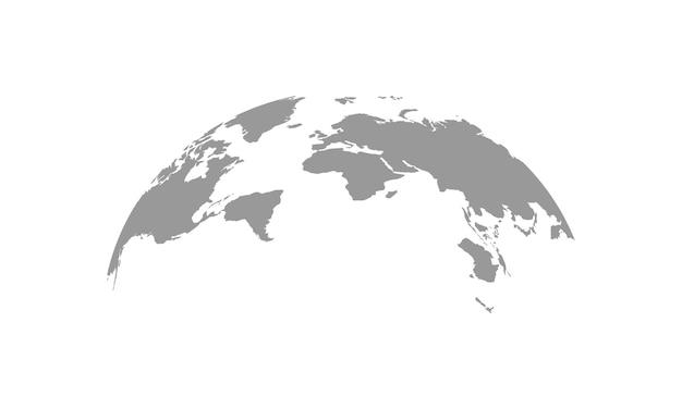 Wereldkaart globe vectorillustratie. wereldkaart symbool geïsoleerd. vectoreps10