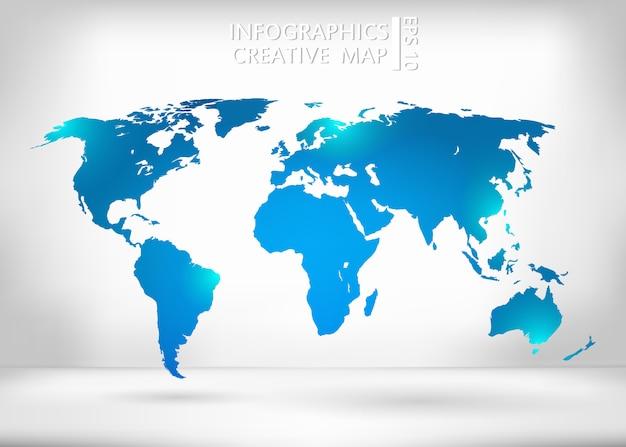 Wereldkaart illustratie.
