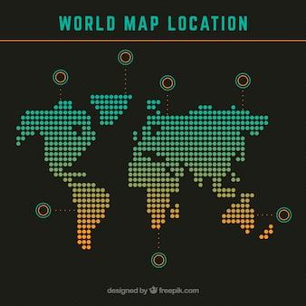 Wereldkaart locatie