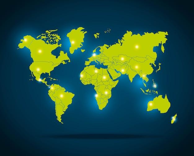 Wereldkaart ontwerp