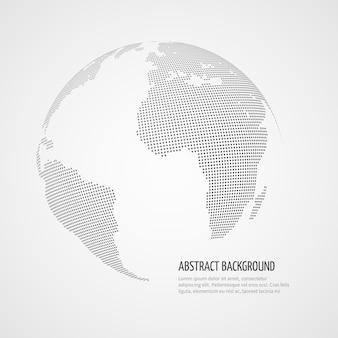 Wereldkaart vector infographics sjabloon