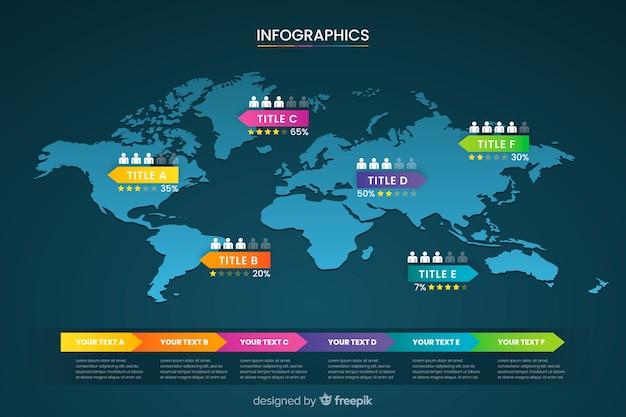 Wereldkaart zakelijke infographic