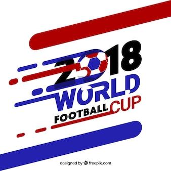 Wereldkampioenschap voetbal achtergrond met abstracte vormen in vlakke stijl