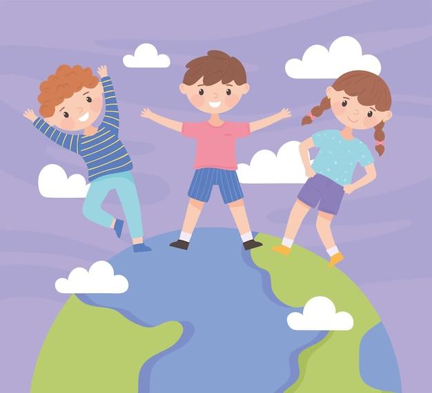 Wereldkinderdag cartoon