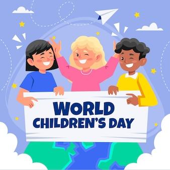 Wereldkinderen dag concept