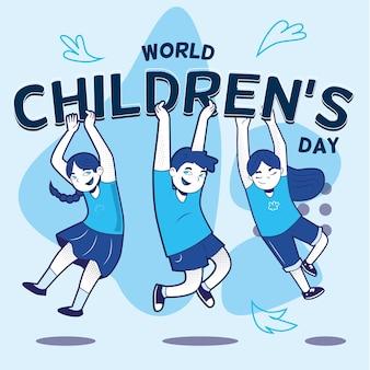 Wereldkinderen dag illustratie