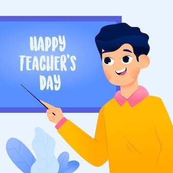 Wereldleraar dag illustratie