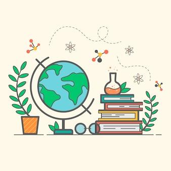 Wereldleraar dag in vlakke stijl